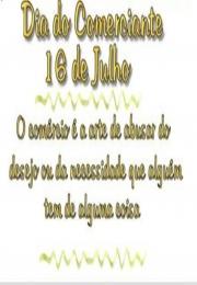 Dia 16 de Julho dia do comerciante